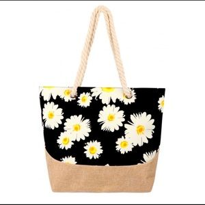 New Gorgeous Large Daisies Market Tote!